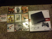 160gb ps3  with 10 games