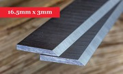 Planer Knives 16.5mm x 3mm-400mm long x 16.5mm high x 3mm thick Online